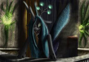 Chrysalis' Balcony by TatterTailArt
