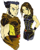 Wolverine and X 23 Colored by Vegeta1978