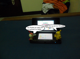 Plusle and Pikachu use 3DS 3 by efilvega