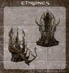 3D Forest Throne by zememz