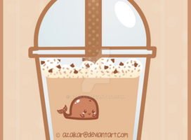 Chocolate Bubble Tea Whale by Azaikar