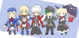 Blazblue Chibis by Rong-Rong