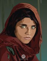 VECTOR: Afghan Girl by vicenteteng