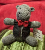 Knitted Hippo by esther-rose-mouse