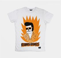 Elvis Lives Tshirt by Teagle