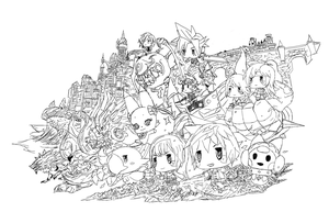 The World Of Final Fantasy by wyldcam