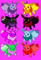 Eevee Adoptables Sheet 1 by Horses774