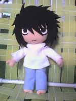 Death note - L plushie 2 by VioletLunchell