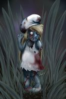Zombie Smurfette by shelldragon