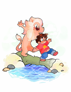 steven and lion by crovvn