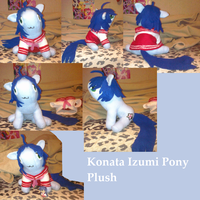 Konata Izumi Pony Plush Contestplush by AshleyFluttershy