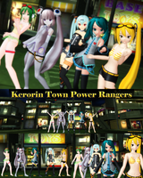 MMD Kerorin Town Power Rangers by Trackdancer