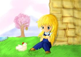 Claire and Chicken by Noogaider