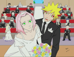 NaruSaku: Wedding by Ryeharo
