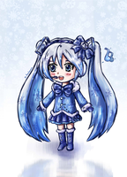 snow Miku chibi by Angelmewkaro