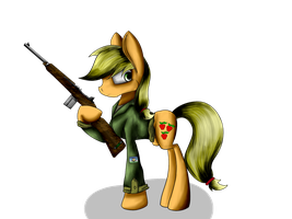 Request - Private Applejack by infernal69