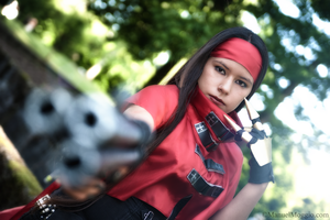 Vincent Valentine ~ Lady gunner by PrincessMiele