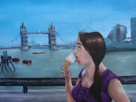 Eating Ice Cream in London by KittyNamedAlly