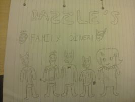 dazzles family diner by linkhead2
