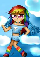rainbow dash by valescalove321