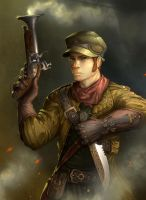 Steampunk Soldier by MakingPicsSlowly