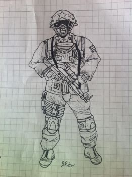 Eurasian Union Tajikistanian Military Soldier by F1st-of-R3volution