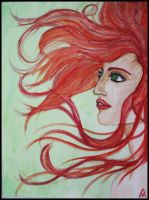 Red Haired Woman by Schinizzel