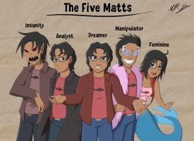 The Five Matts by Toonexterminator