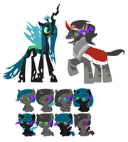 Chrysalis and Sombra foals (CLOSED) by Hollowolfpup