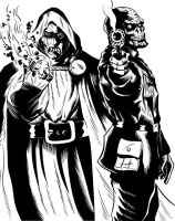Dr. Doom and Red Skull by Leandro-Damasceno