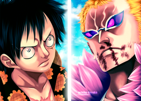 One Piece 781: Luffy vs DoFlamingo by uchiha-itasuke