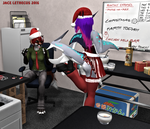 Office Party 02 -Flirty Hello- Second Life by Jace-Lethecus