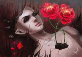 Emptiness and flowers by MAYA-13
