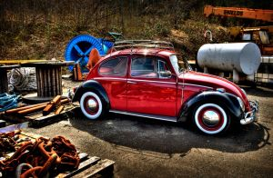 Red VW Bug by Vidiphoto