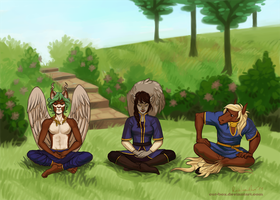 Commission: Meditation by cut-box