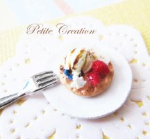 ice cream + waffle ring 2 by PetiteCreation