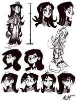 Snow Girl 2 Concept Sketches by Ric-M