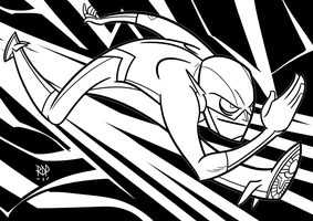 black and white flash by samuraiblack