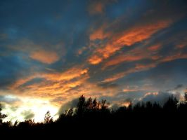 Sunset clouds by Ranae490