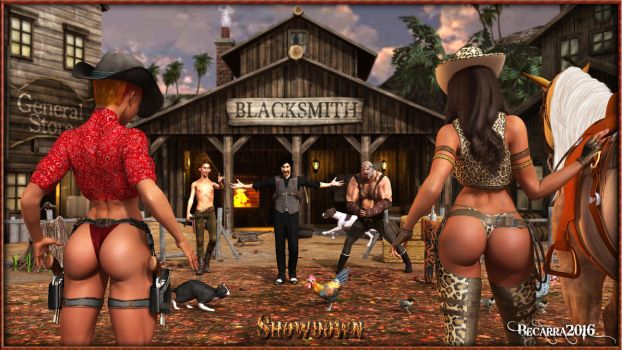 The Cowgirls - Showdown by Becarra