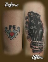 Guitar headstock cover up by jesserix