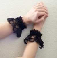 Black Lace cuff II by Lincey