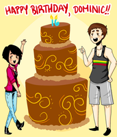 Happy Birthday, Dominic!! by cinnamelon