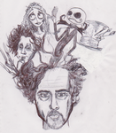 Tim burton by Fylv