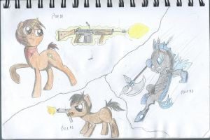 Combat Poses by ProfessionalPuppy