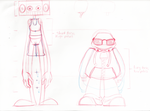 Animation Character Design - LineUp by HoodiePatrol89