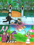 Mary Poppins- Into the Chalk Drawing by WishExpedition23