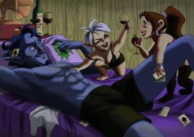 Strip Poker by MadAlleyCat