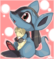 Little Lucario by BrandiMuffin