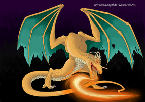A wild Dragonite appeared... by Tazzay